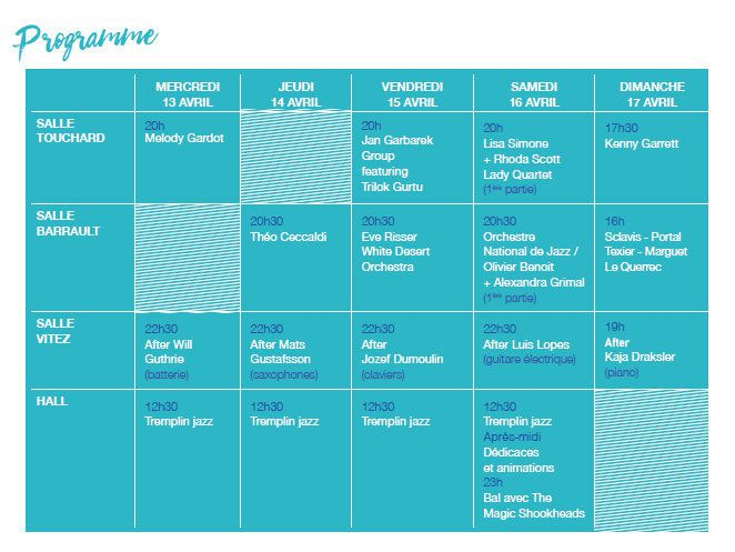 FESTIVAL JAZZ OR JAZZ à ORLEANS : comment acheter vos BILLETS dès le 2 février 2016 - modifications du TARIF REDUIT