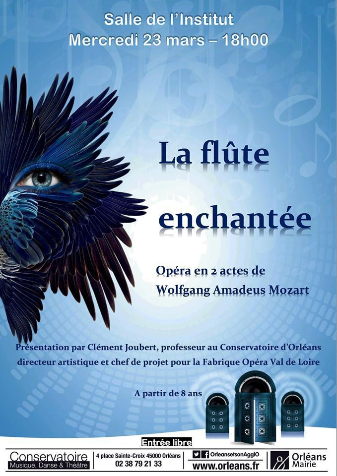 """Clément Joubert raconte """"la Flûte enchantée"""" 23 mars 2016 ORLEANS"""