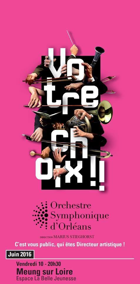 L'ORCHESTRE SYMPHONIQUE D'ORLEANS en concert à Meung sur Loire le 10 juin 2016