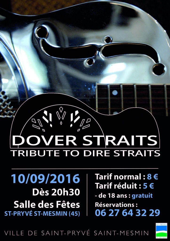 3ème ENTREE GRATUITE pour le concert DOVER STRAITS, tribute à Dire Straits - St Pryvé Saint-Mesmin 10 septembre