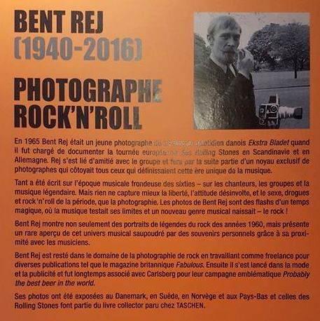 "BENT REJ ""ROCK ICONS ONSTAGE & BACKSTAGE"" Exposition de photos MAISON DU DANEMARK PARIS 17 septembre - 20 novembre 2016 Entrée Libre"