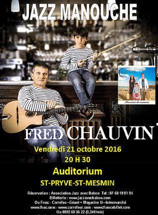 Fred CHAUVIN invité de l'émission concert JAZZ AVEC BABOU le 21 octobre à ST-PRYVE-ST-MESMIN
