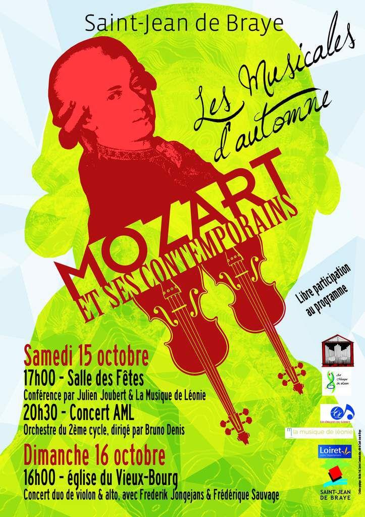 LES MUSICALES D'AUTOMNE : conférence et concerts les 15 &amp&#x3B; 16 Octobre 2016 à SAINT JEAN DE BRAYE