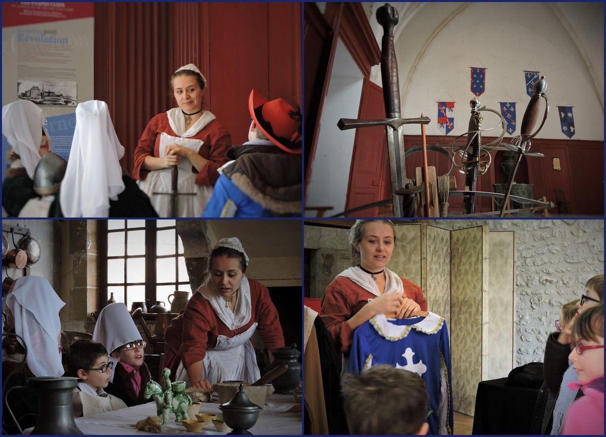 EXPLORATEURS DE L'HISTOIRE, animations ENFANTS 20 octobre-2 novembre 2016 au château de Meung sur Loire (Loiret)