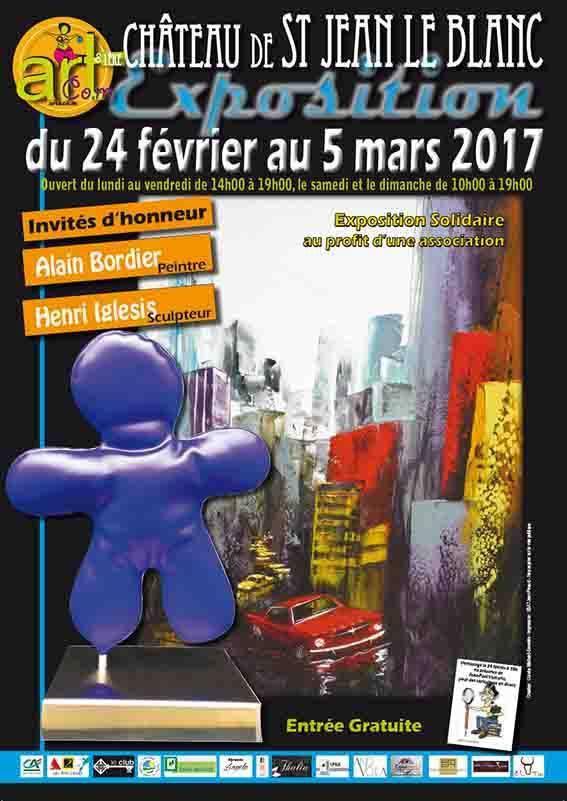 EXPOSITION SOLIDAIRE d'Art Contemporain organisée par Art &amp&#x3B; Co.m - 24 février au 5 mars 2017 - St Jean le Blanc