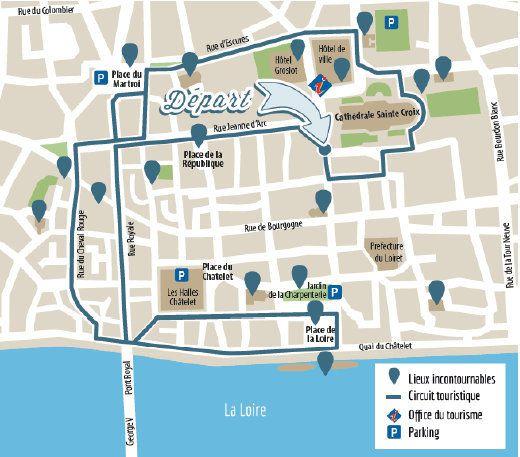 LE PETIT TRAIN TOURISTIQUE D'ORLEANS fait son retour en centre ville