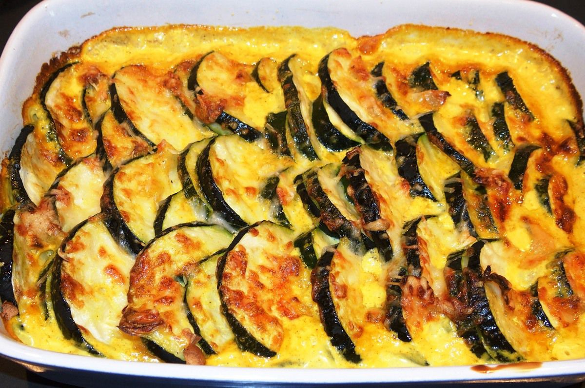 gratin de courgettes la mode du chef les recettes de virginie. Black Bedroom Furniture Sets. Home Design Ideas