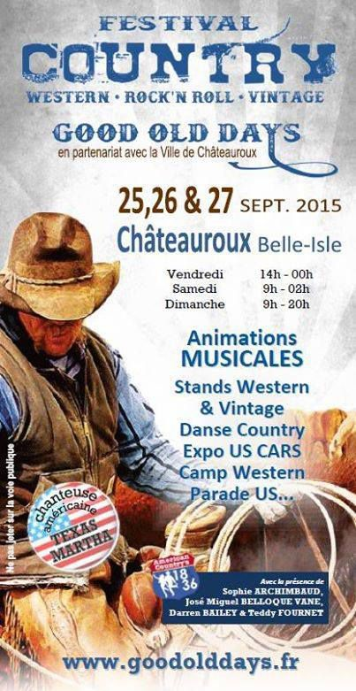 Festival GOOD OLD DAYS Chateauroux 25 au 27/09