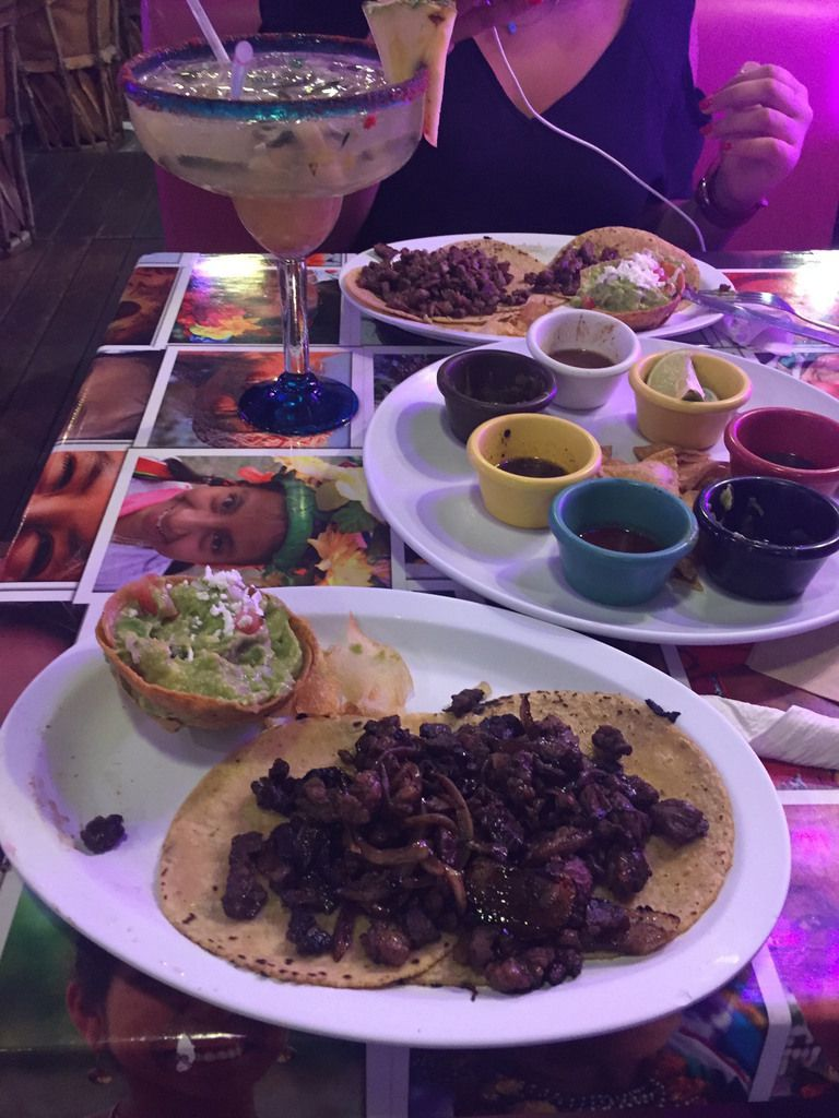 What is a trip to Mexico without mexican food? Marguarita, guacamole, tacos...What else?