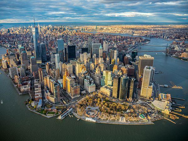 Manhattan bird's eye view