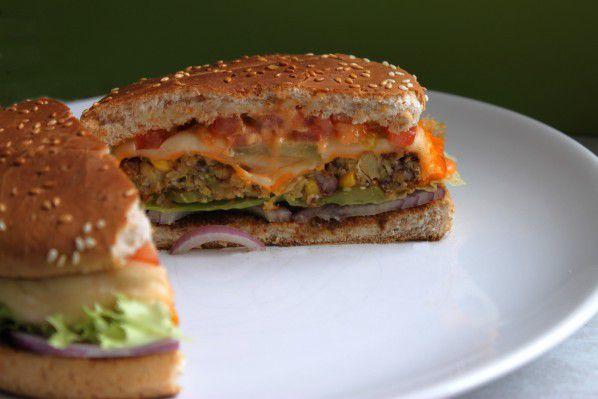 Burger végétarien {steak de légumes sans viande} dans 100%mag
