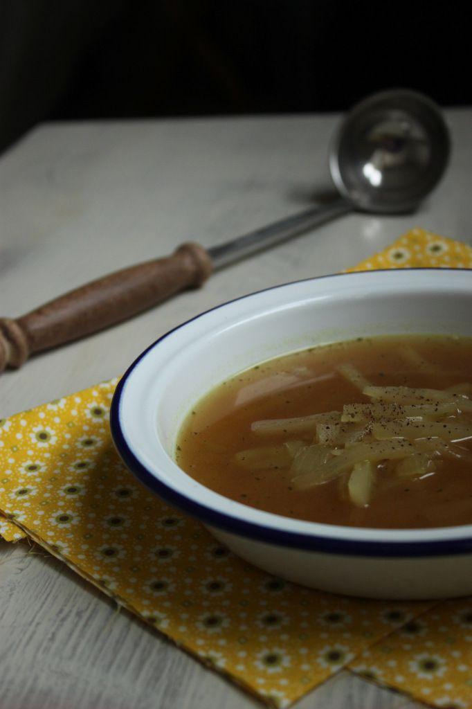 Soupe de radis noir au miso