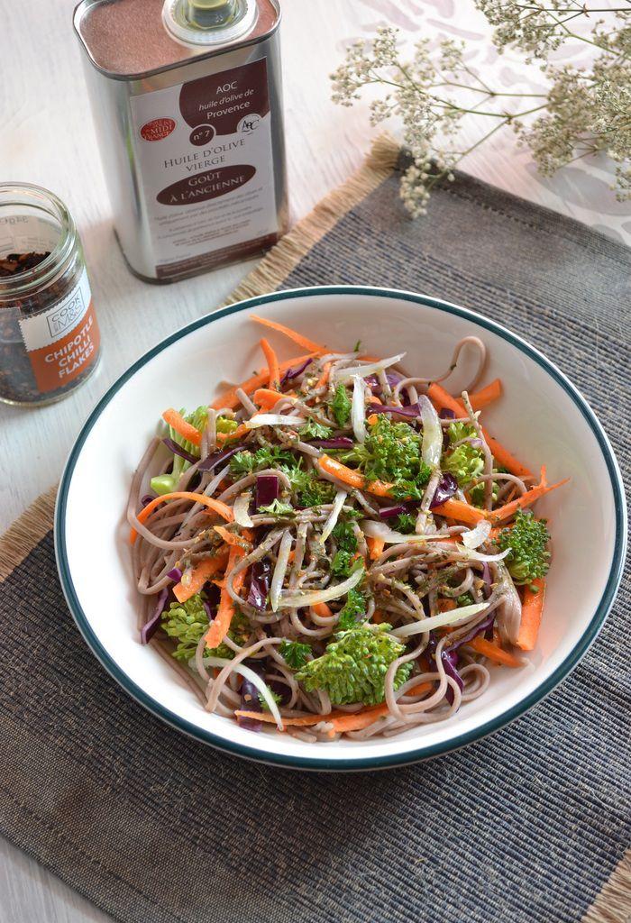 Nouilles soba aux crudités et huile d'olive + des photos du SBC8