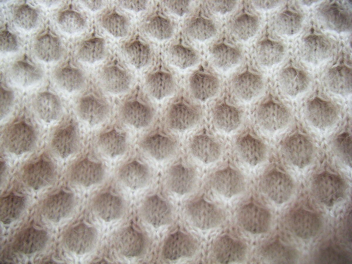 Comment tricoter le point nid d 39 abeille - Differents points de tricot ...