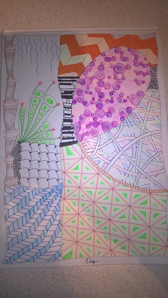 Zentangle couleur