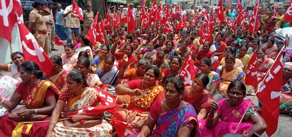 Activités des syndicats affiliés et amis de la FSM à l'occasion de la Journée internationale des femmes travailleuses, 8 mars 2020