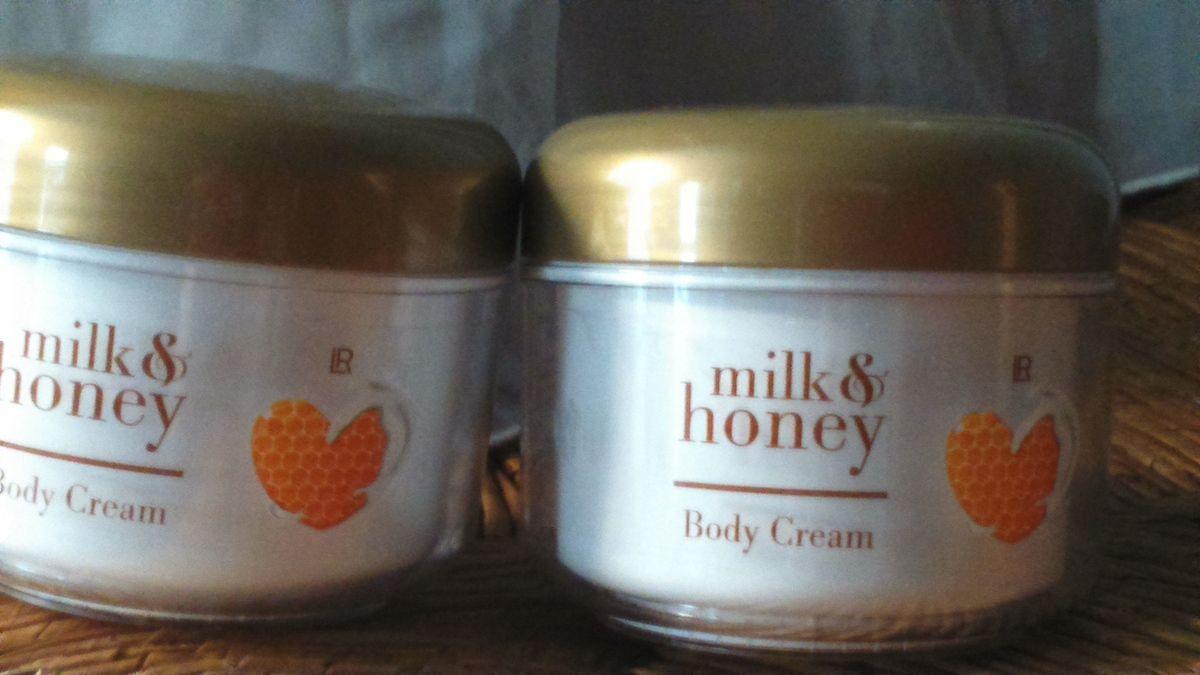 Crème au miel et au lait