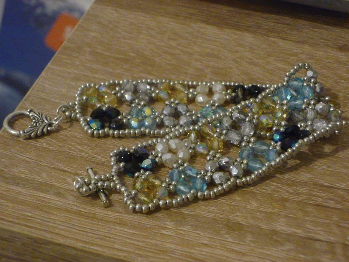 Bracelet boheme bleu fini
