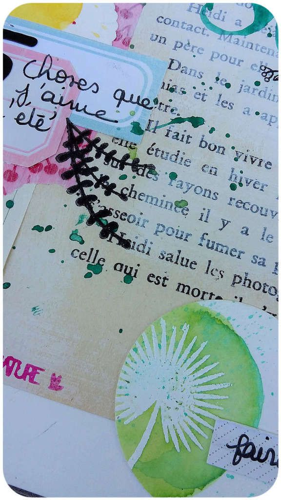 Page de Art Journal / Atelier Elisa .P