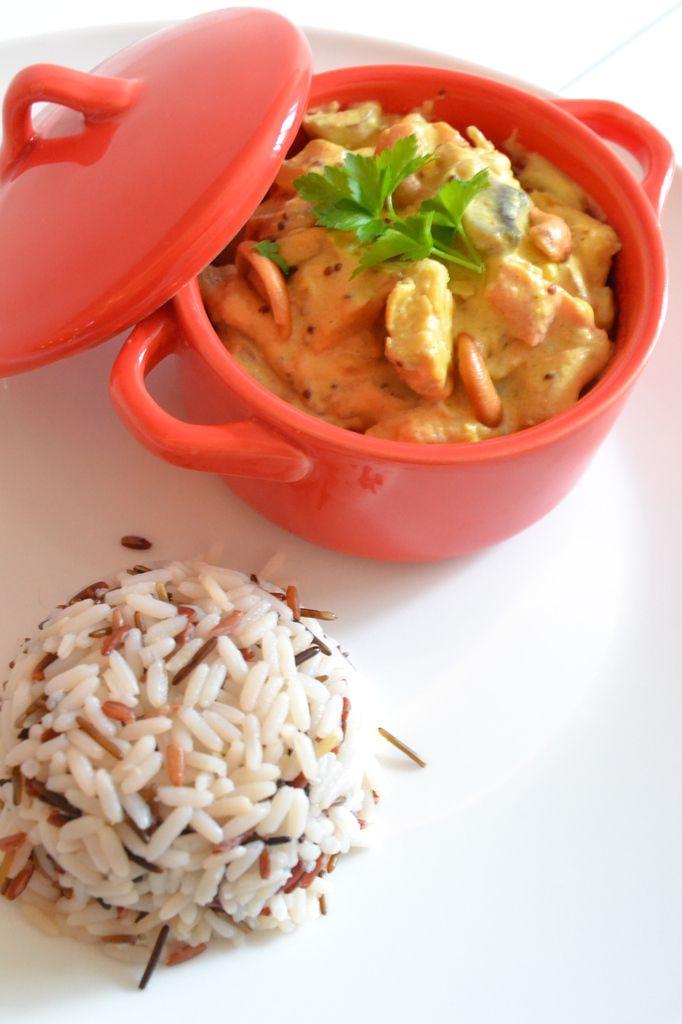 Cassolette de korma et riz sauvage