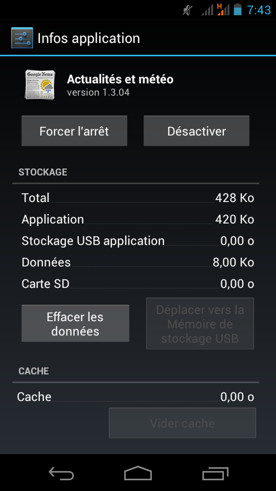 Désactiver des applications Android