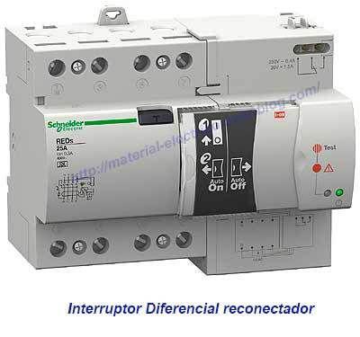 Interruptor diferencial reconectador