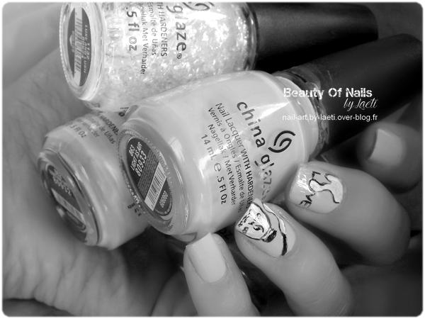 ♥ Nail Art, Love China Glaze.