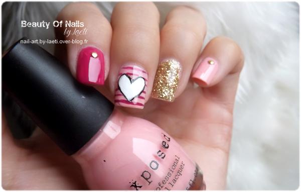 ♥ Nail Art de Saint Valentin, en retard.