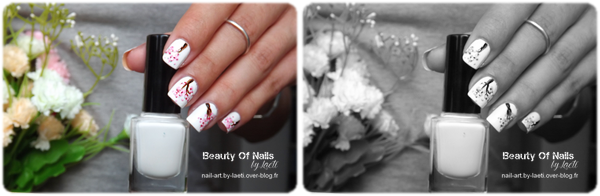 ❀ Nail Art, Branches fleuries.