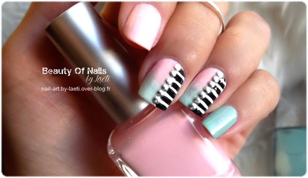 ❀ Nail Art, Dégradé &amp&#x3B; Striping.