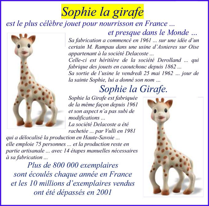 sophie la girafe jouet star depuis 1961. Black Bedroom Furniture Sets. Home Design Ideas