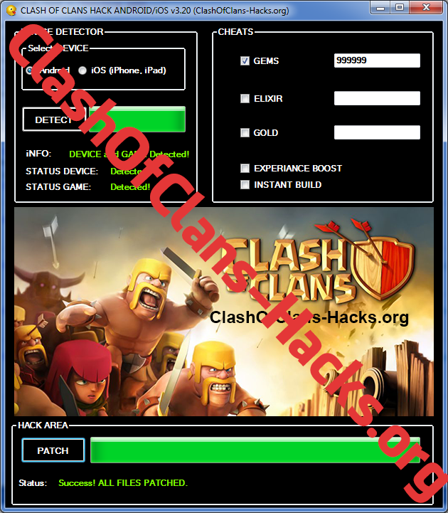 clash of clans cheats hack for gems android