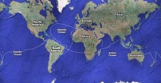 Circumnavigation en 8 ans, nous n'en revenons pas.