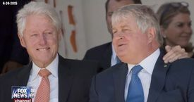 Bill Clinton et O'Brien, patron de Digicel