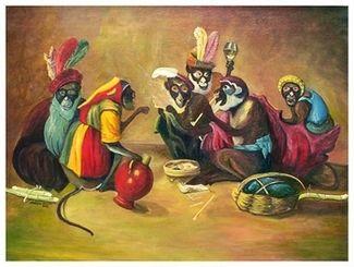 Peinture haïtienne : le complot des macaques