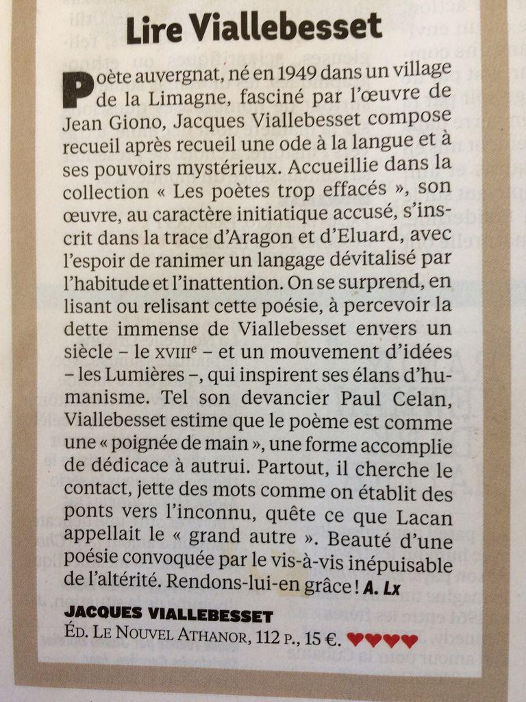 Coup de coeur de L'EXPRESS. Jacques Viallebesset