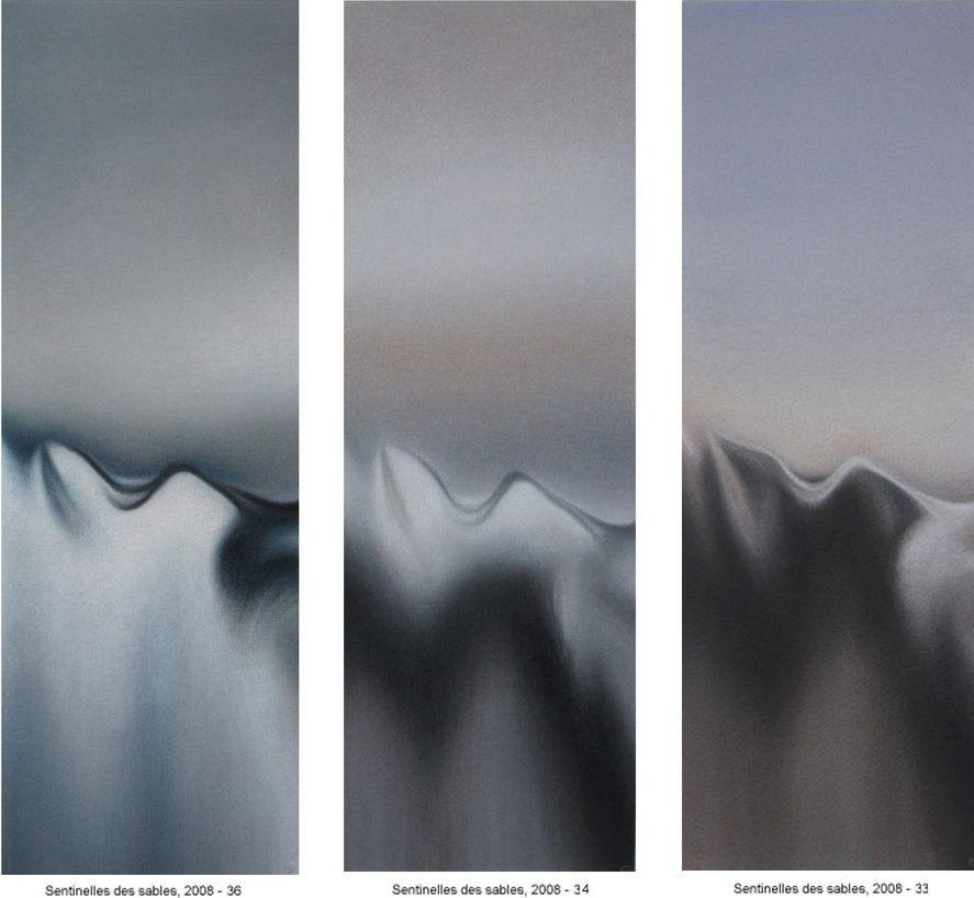 Sentinelles des sables, 2008 33, 34, 36 - 3 (40 X 14 cm)