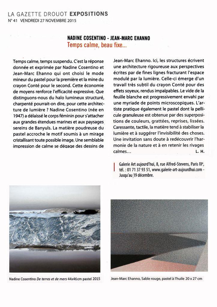 LA GAZETTE DROUOT n° 41 du 27 novembre 2015