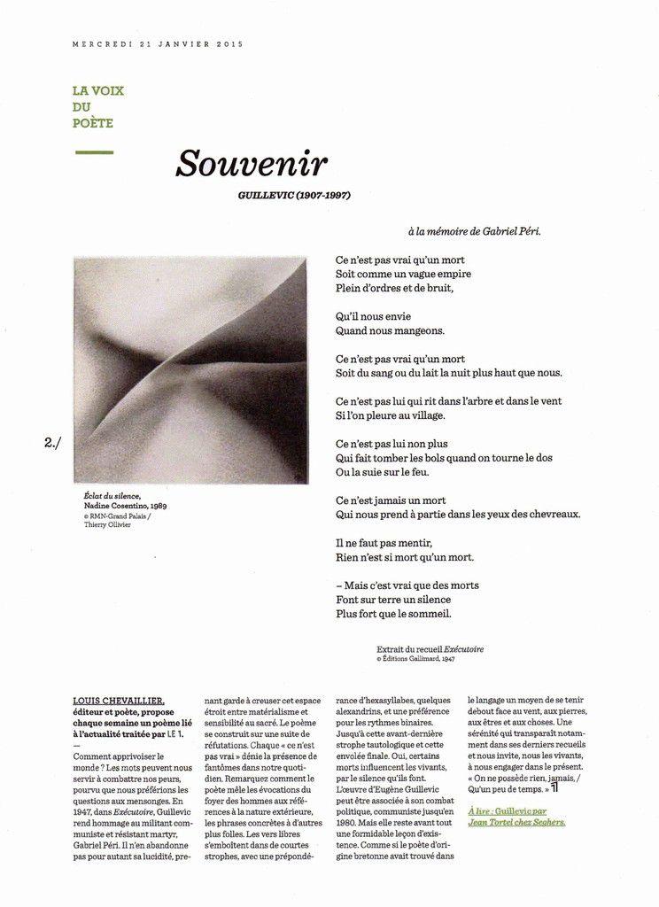 """""""Le 1""""  du mercredi 21 janvier 2015"""
