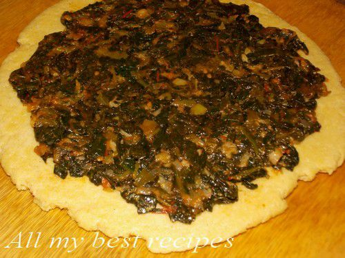 Ma Galette Kabyle farcie (Aghrum lahwel ou vousfer) aux epinards