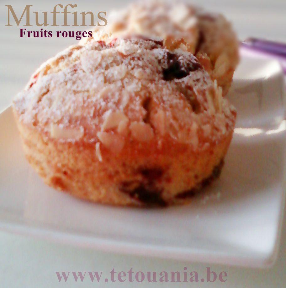 Muffins Lait d'amandes et Fruits de bois