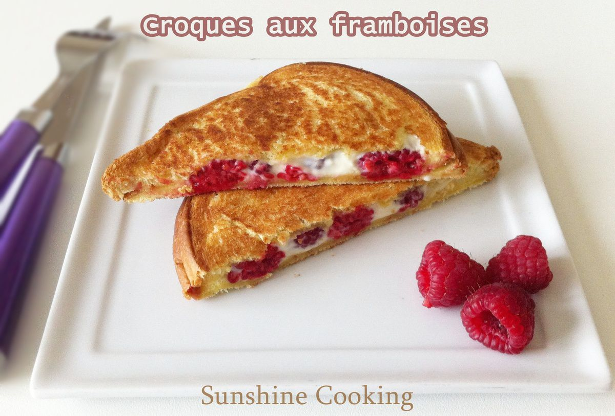 Croques aux framboises / Raspberry Grilled Cheese Sandwich