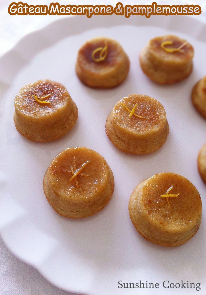 Délice  fondant au pamplemousse & mascarpone (Gâteau facile)