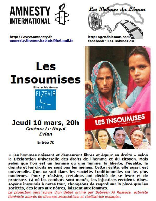 Les Insoumises à Evian - jeudi 10 mars