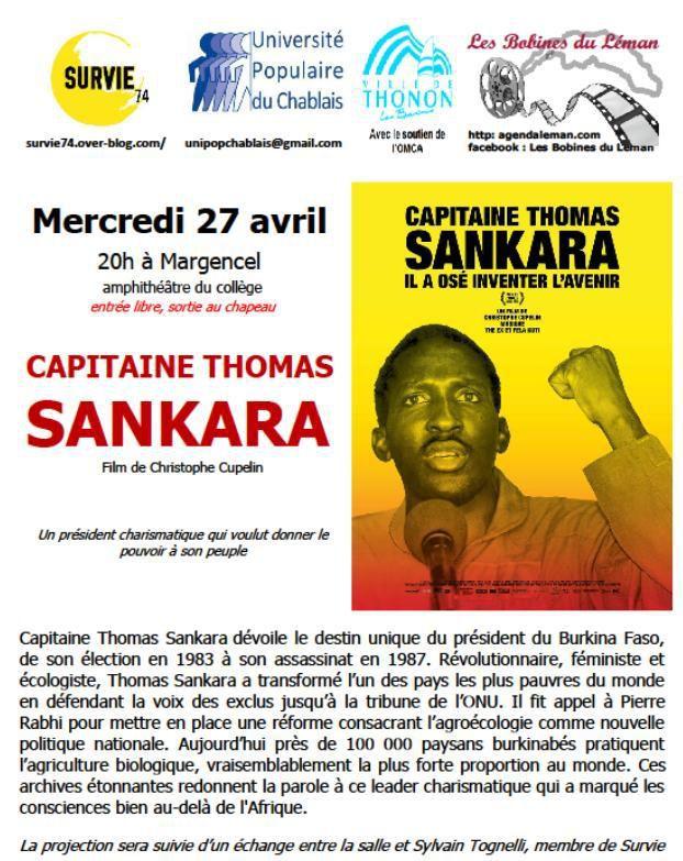 Thomas Sankara, film-débat à Margencel