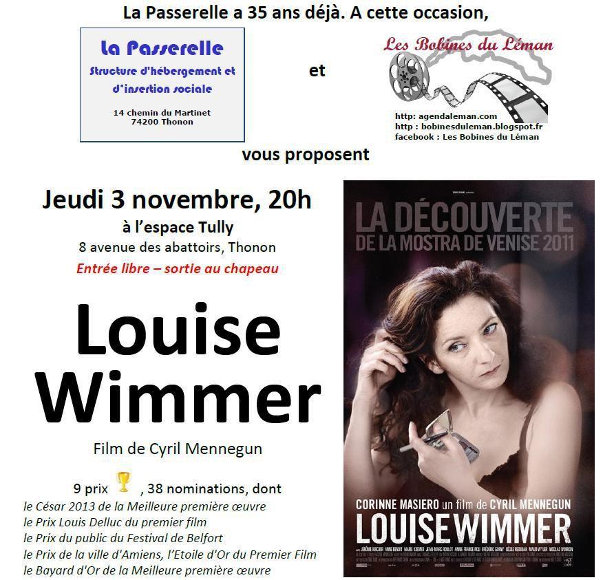 Louise Wimmer, film-échange avec La Passerelle à Thonon ce jeudi