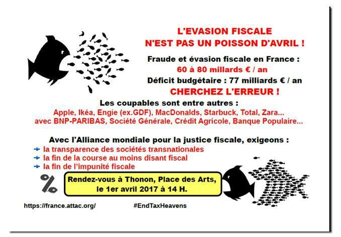 Fraude fiscale : action Poisson d'Avril