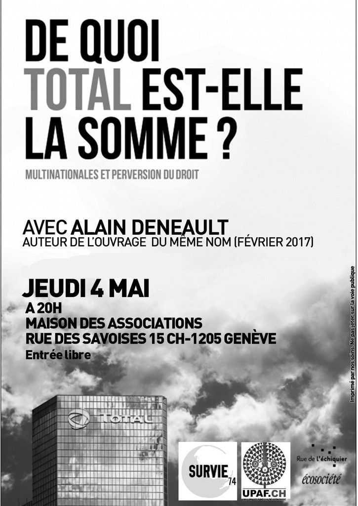 TOTAL, multinationales et perversion du droit... à Genève