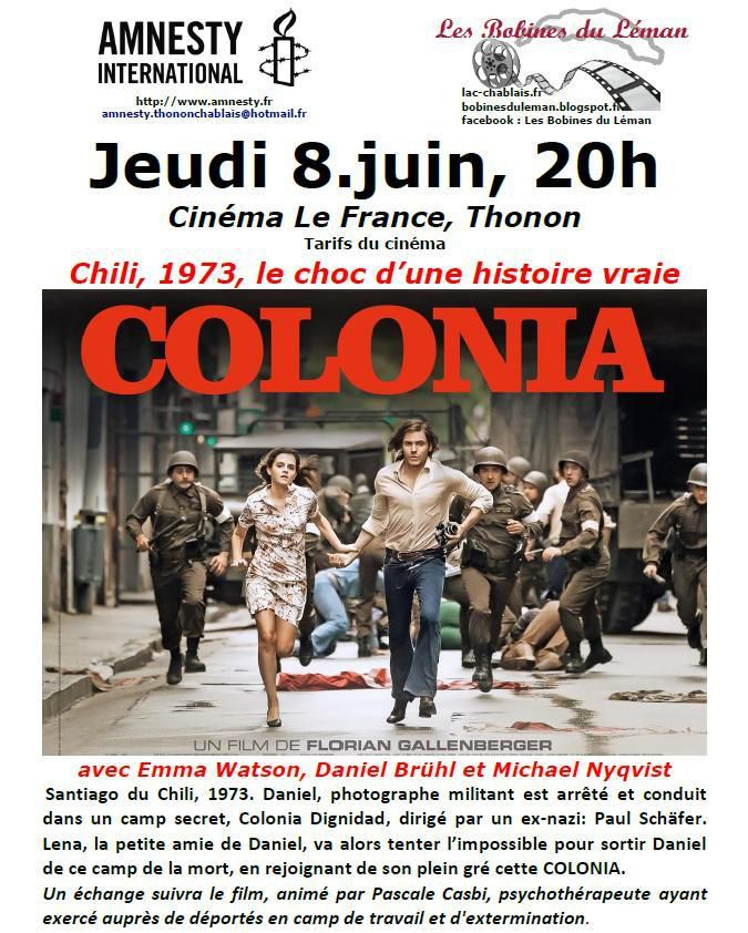 Colonia, film-débat à Thonon
