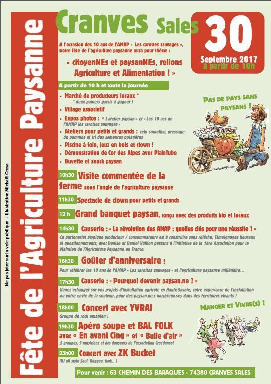 Fête de l'agriculture paysanne à Cranves-Sales
